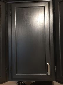 Before & After Cabinet Painting in Coatesville PA (Carbon Black Painted Cabinets with New Hardware) (4)